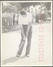 Vintage Photo Golfing Man Johnny Bulla w/ Golf Club in Swinging Motion 704313