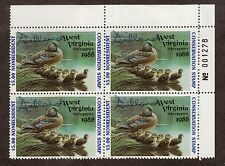 WV2A - West Virginia State Duck Stamp. P/B4.OG. Non Res. PNS A/S.#02 WV2APB4TRAS