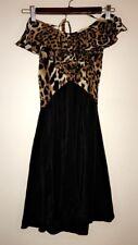 Karina Grimaldi 'Silk Halter Neck Animal Print Dress' Size S