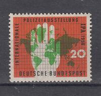 BRD  Briefmarken 1956 Polizeiausstellung Essen Mi.Nr.240 ** postfrisch