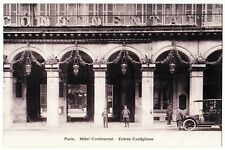Paris France Hotel Continental Castiglione Entrance Antique Postcard #573