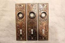 """VINTAGE HEAVY BRONZE DOOR BACK PLATES SARGENT 7/"""" X 2-1//2/"""" CIRCA 1890/'s"""