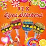 72 x Lego Ninjago Eyes Stickers for Lollipops Birthday Party Celebration Labels