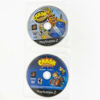 Playstation 2 Crash Tag Team Racing And Crash Nitro Kart Disc Only Tested PS2