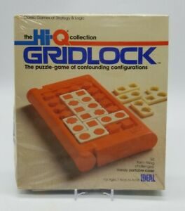 IDEAL the Hi-Q Collection Gridlock Puzzle Game Vintage 1984 Brand New Old Stock