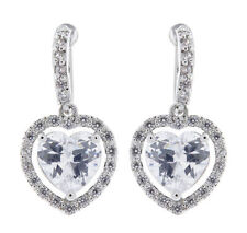Heart Stone Costume Earrings