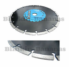 "9"" DIAMOND DISC MASONRY CONCRETE BRICK STONE TILE PAVING SLAB CUTTING BLADE 12C"