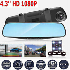 2018 New 4.3'' 1080P Car Auto DVR Mirror Dash Cam Recorder+Rear View Camera Kit