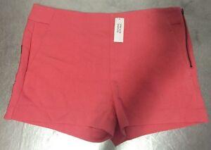 NWT Banana Republic Women's High Waist Perfect Coral Global Stretch Shorts Sz 14