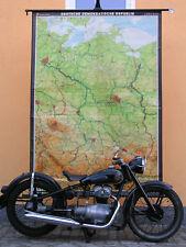 DDR 1949-1990 165x236c 1970 vintage GDR wall map B 德国东部 JA 東ドイツ AWO +1.Bild Deko