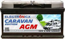 Electronicx Caravan Edition-2 Batteria AGM 120 Ah 12V Roulotte Barca Fornitura