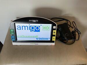 """Amigo HD Enhanced Vision Magnifier Color 7"""" Handheld Reading-Aid Display EUC"""