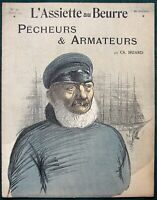L'Assiette au Beurre #97 Fishermen & Shipowners 1903 French Satire Art