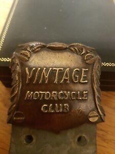 C1960s VINTAGE MOTORCYCLE CLUB MOTORCYCLE BADGE. BSA/TRIUMPH/HARLEY ETC. LOVELY.