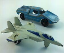 Rare Die Cast Tootsie Toy Lot Die-Cast F15 Plane & Sport Car Chicago ILL Midgets