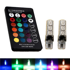 T10 W5W 5050 6SMD RGB Silica Led Error Free Canbus Led Warning Light+Controller