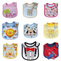 Baby Kids Newborn Cotton Bibs Waterproof Saliva Towel Burp Cloth Feeding Bandana