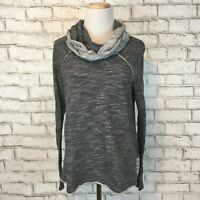 FP Beach Women's Gray Cowlneck Longsleeve Slouchy Pullover Sweater Small Medium
