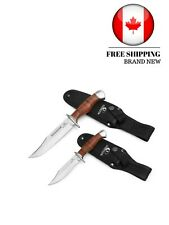 MOSSY OAK 2-Piece Fixed Blade Hunting Knife Set Full Tang Leather Handle with Sh