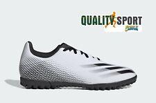 Adidas X Ghosted.4 TF Bianco Nero Scarpe Uomo Calcetto Soccer FW6789 2020