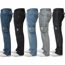Enzo Hommes Jean Cargo Combat Pantalon Décontracté Travail Grand Tout Taille