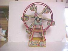 "J. CHEIN TIN LITHO MECHANICAL FERRIS WHEEL #172 DISNEYLAND MICKEY 16"" BOX"