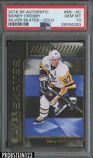 2016 SP Authentic Gold Sidney Crosby Penguins /99 PSA 10 GEM MINT
