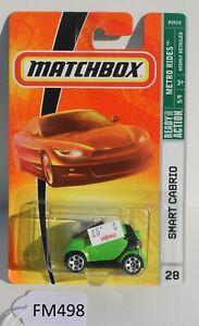 Matchbox Metro Rides Smart Cabrio car Green 5/9 FNQHotwheels FM498