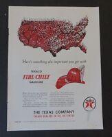 Original  Print Ad 1947 TEXACO Fire-Chief Gasoline Vintage  Art