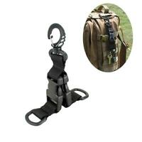 Tactical Molle Strap Outdoor Backpack Webbing Carabiner Buckle Ring Clip