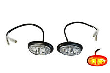 Oval LED Flush Mount Indicators For Custom Project Motorbikes Motorcycles