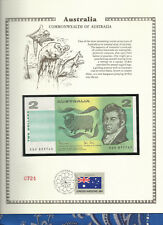 Australia 2 Dollar 1983 P43d Johnston/Stone Unc Fdi Un Flag Stamp Prefix Kgh