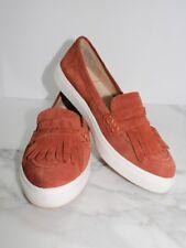 Sole society Daria Rust Kiltie loafer size 8 slip-on Fringe brown white sole