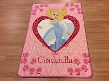 Pink Cinderella Kids Room Nursery Rug Washable Anti-slip 80x120cm 33%OFF