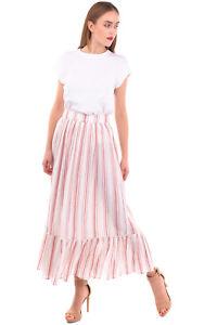 RRP €125 ANTIK BATIK Maxi Tiered Skirt Size 36 XS Striped Ruffle Hem Zipped Side
