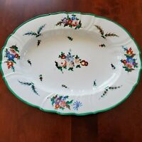 RARE R B BOSTON HAND PAINTED RICHARD BRIGGS AUSTRIAN OVAL SERVING PLATE 15 1/4""