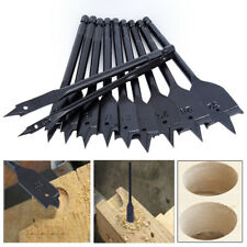 11Pcs Assorted Size Flat Wood Drill Bits Hex Shank Set DIY Drilling Carbon Steel