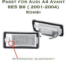 LED SMD Kennzeichenbeleuchtung für Audi A4 Avant 8E5 B6 ( 2001-2004) Kombi /CB/