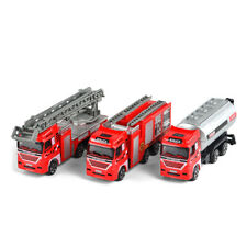 3PCS Fire Engine Fire Fighting Truck Scale Model Car Diecast Toy Vehicle Gift