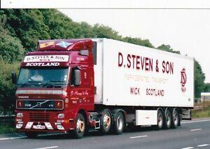 COL PHOTO: D. STEVEN & SON (WICK) VOLVO FH16 ARTIC FRIDGE TRAILER - L792 MSK