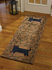 Park Designs Cat Hooked Rug Runner 24X72, 24 x 72