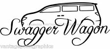 Swagger Wagon Decal for Sienna, Mini Van, Caravan, Quest, Odyssey and more