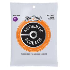 Martin MA130FX Flexible Core Acoustic Guitar Strings, Silk & Phosphor, 11-47
