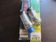 radio tubes Two Nos Ampères Ebc41 and Mullard EbcC41 Nos