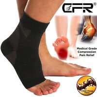 Copper Compression Socks Foot Plantar Fasciitis Arch Support Ankle Heel Brace US