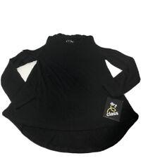 art class Girl's Size XS 4-5 Black Long Sleeve Cold Shoulder Mock Neck Shirt