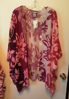 WOMENS PLUS SIZE  2X 3X 4X TOP NWT TUNIC CATHERINES SHEER