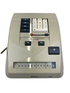 BEAUTIFUL VINTAGE BOHN CONTEX 30 ELECTRO-MECHANICAL CALCULATOR  ! WORKS W/COVER!