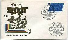 FDC BERLIN  18.05.1980   THEME NATATION SPORT