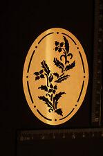 Brass/stencil/Oval/floral/flower/s/Leaf/Spring/Summer/Emboss